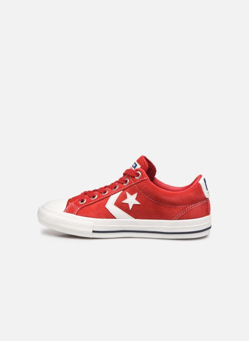 Baskets Converse Star Player Ev Suede Ox Rouge vue face
