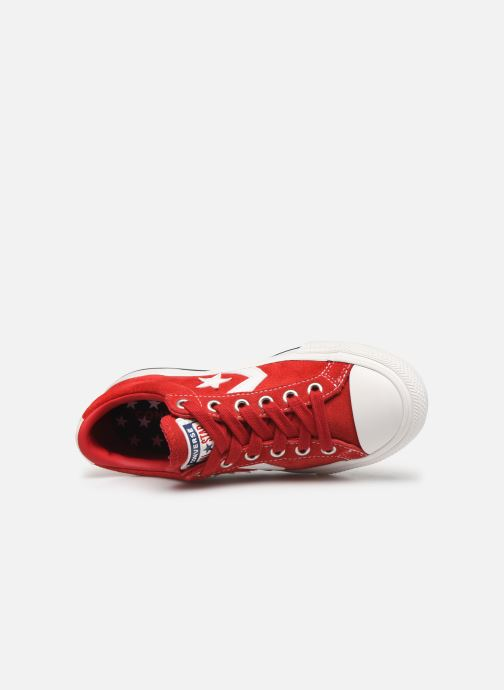 Baskets Converse Star Player Ev Suede Ox Rouge vue gauche