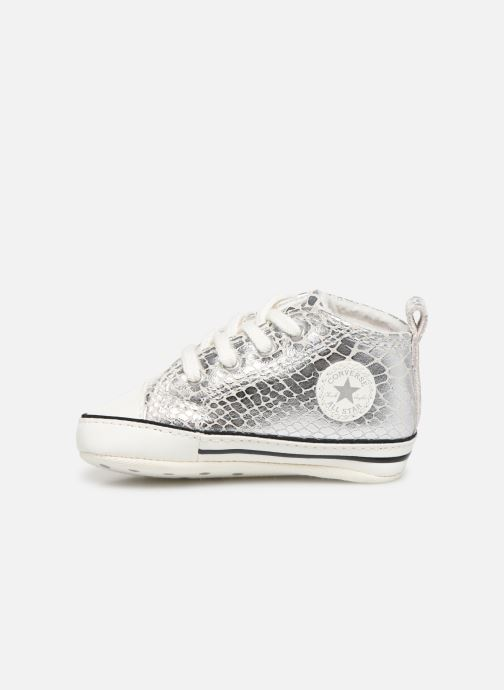 Sneakers Converse Chuck Taylor All Star First Star Metallic Snake Hi Zilver voorkant