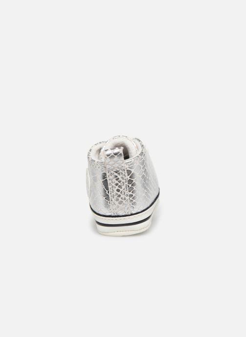 Sneakers Converse Chuck Taylor All Star First Star Metallic Snake Hi Zilver rechts