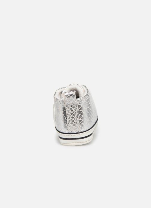 Sneakers Converse Chuck Taylor All Star First Star Metallic Snake Hi Zilver rechts