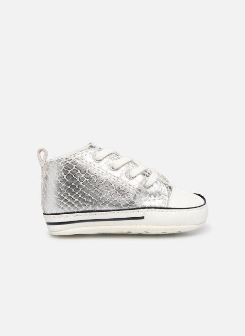 Sneakers Converse Chuck Taylor All Star First Star Metallic Snake Hi Zilver achterkant
