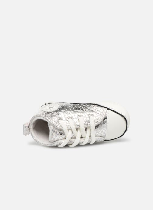 Sneakers Converse Chuck Taylor All Star First Star Metallic Snake Hi Zilver links