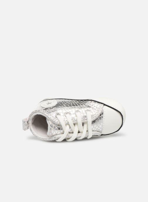 Sneakers Converse Chuck Taylor All Star First Star Metallic Snake Hi Zilver links