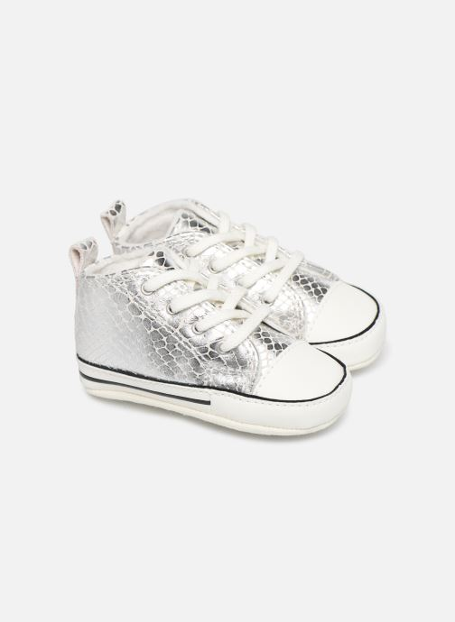 Sneakers Converse Chuck Taylor All Star First Star Metallic Snake Hi Zilver detail