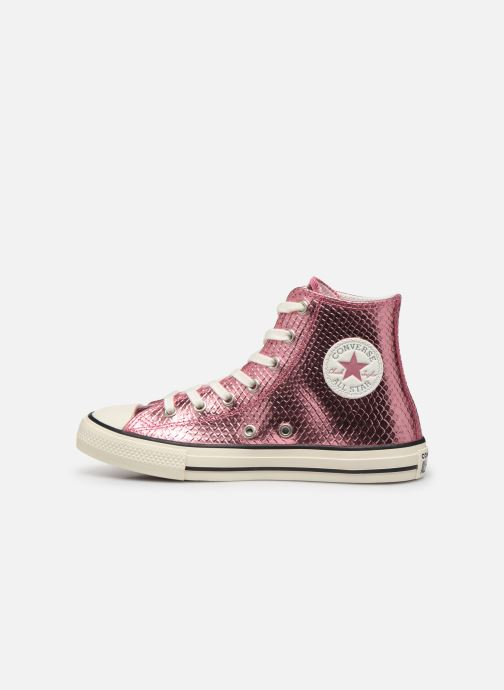 Sneakers Converse Chuck Taylor All Star Metallic Snake Hi Roze voorkant