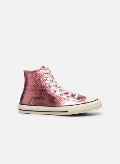 Sneakers Converse Chuck Taylor All Star Metallic Snake Hi Rosa immagine posteriore