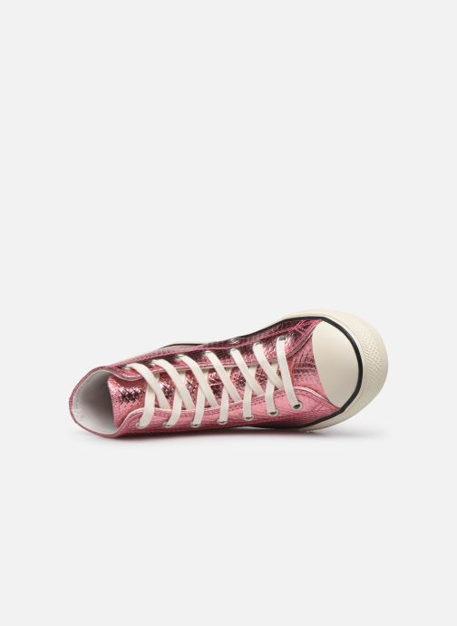 Baskets Converse Chuck Taylor All Star Metallic Snake Hi Rose vue gauche