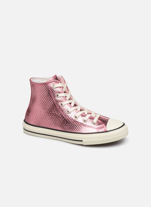 Baskets Converse Chuck Taylor All Star Metallic Snake Hi Rose vue détail/paire