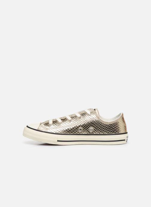 Sneakers Converse Chuck Taylor All Star Metallic Snake Ox Goud en brons voorkant
