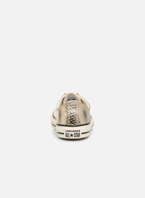Sneakers Converse Chuck Taylor All Star Metallic Snake Ox Oro e bronzo immagine destra