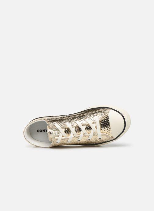 Sneakers Converse Chuck Taylor All Star Metallic Snake Ox Goud en brons links