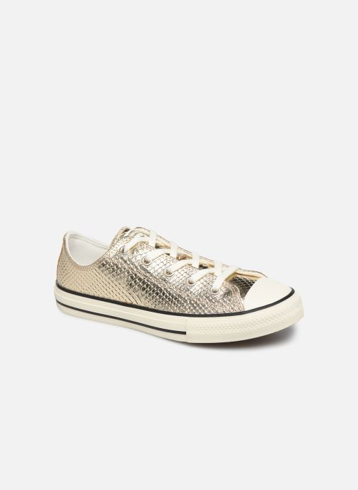 Baskets Converse Chuck Taylor All Star Metallic Snake Ox Or et bronze vue détail/paire