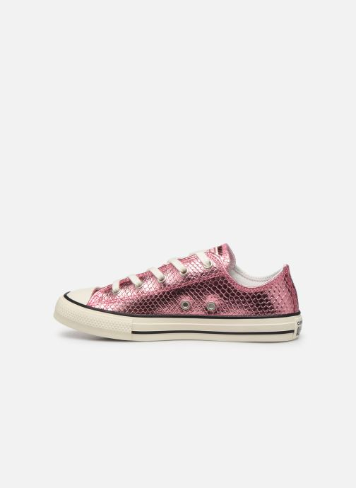 Sneakers Converse Chuck Taylor All Star Metallic Snake Ox Rosa immagine frontale