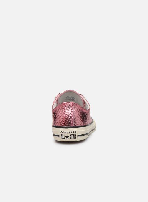 Sneakers Converse Chuck Taylor All Star Metallic Snake Ox Rosa immagine destra