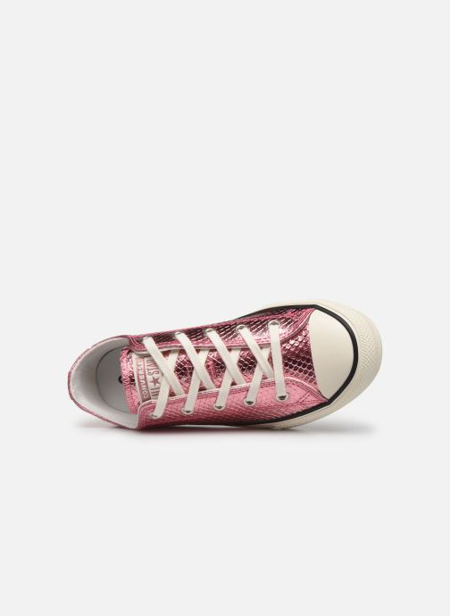 Sneakers Converse Chuck Taylor All Star Metallic Snake Ox Rosa immagine sinistra