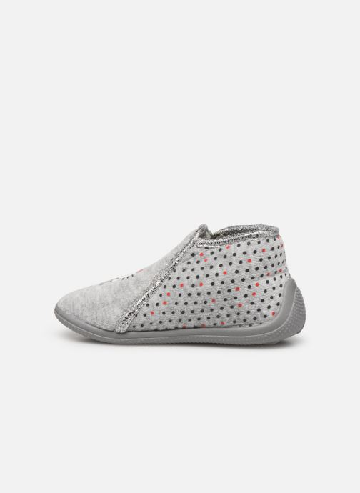 Pantuflas Hello Kitty Hk Ambrai Gris vista de frente