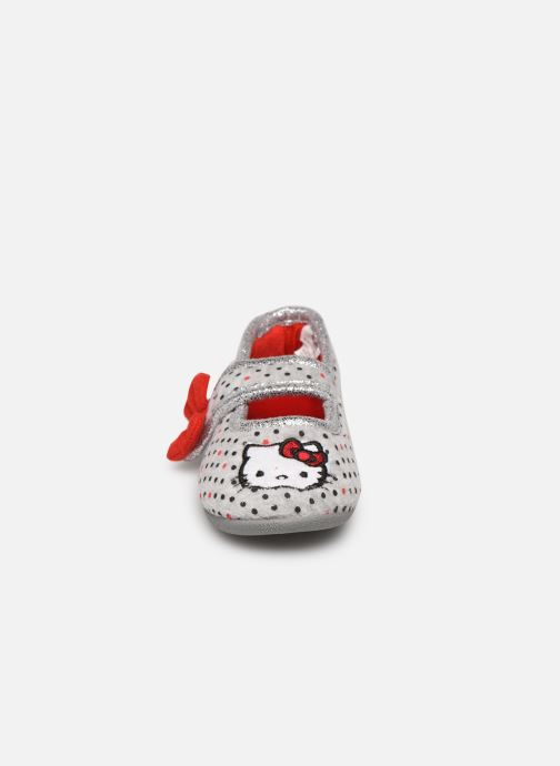 Chaussons Hello Kitty Hk Aricia Gris vue portées chaussures
