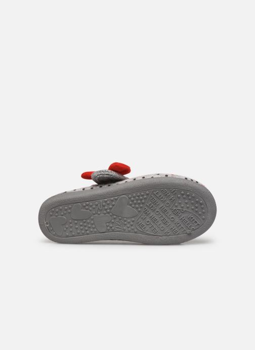 Slippers Hello Kitty Hk Aricia Grey view from above