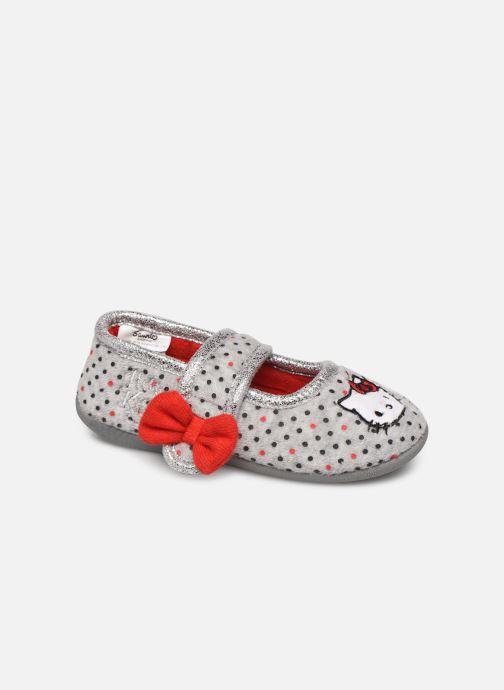 Pantuflas Hello Kitty Hk Aricia Gris vista de detalle / par