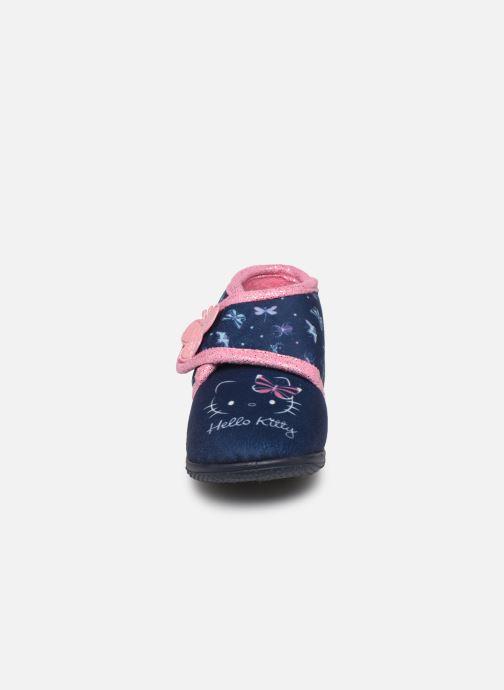 Chaussons Hello Kitty Hk Auta Bleu vue portées chaussures
