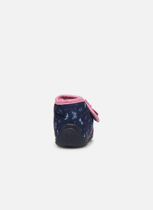 Pantuflas Hello Kitty Hk Auta Azul vista lateral derecha