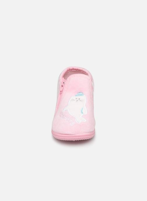 Chaussons Absorba Baba Rose vue portées chaussures