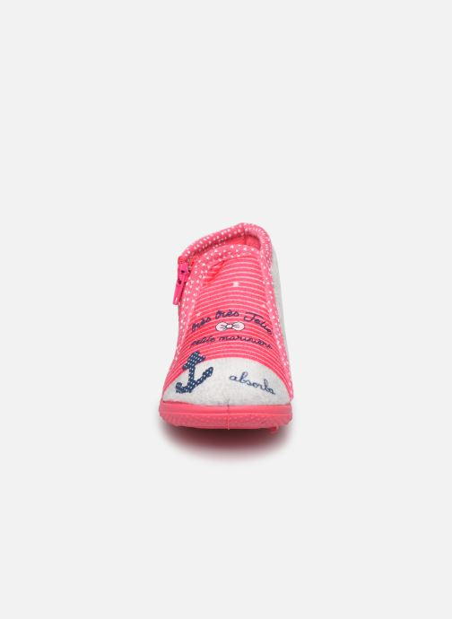 Chaussons Absorba Louisa Rose vue portées chaussures