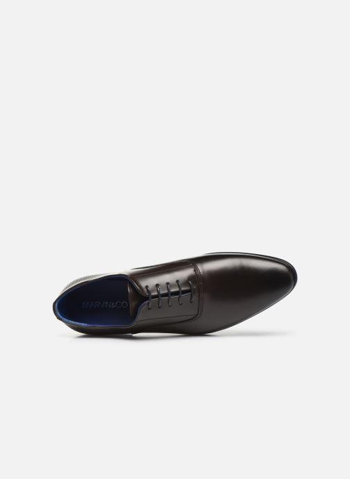 Zapatos con cordones Marvin&Co Manao Marrón vista lateral izquierda