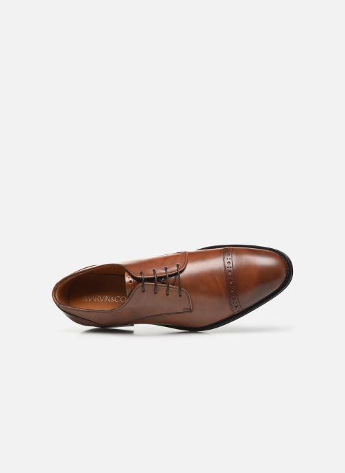Zapatos con cordones Marvin&Co Massylo Marrón vista lateral izquierda