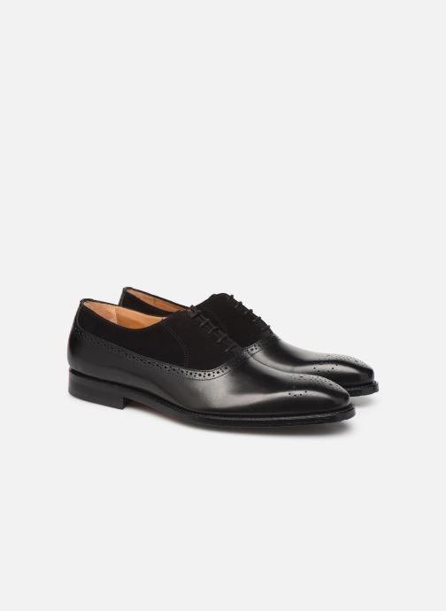 Zapatos con cordones Marvin&Co Luxe Cogane - Cousu Goodyear Negro vista 3/4