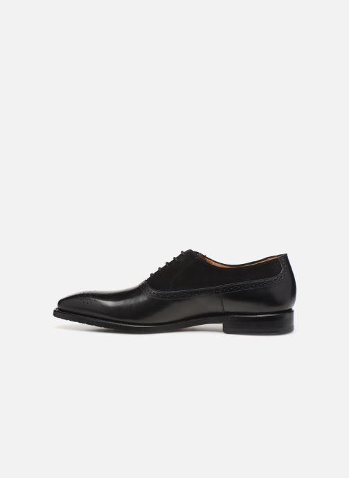 Zapatos con cordones Marvin&Co Luxe Cogane - Cousu Goodyear Negro vista de frente