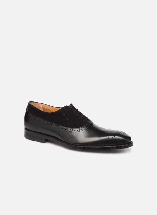 Zapatos con cordones Marvin&Co Luxe Cogane - Cousu Goodyear Negro vista de detalle / par