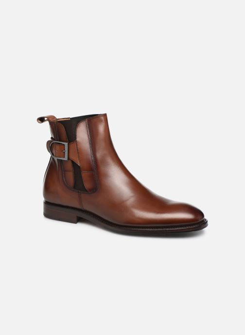 Bottines et boots Marvin&Co Luxe Capone - Cousu Goodyear Marron vue détail/paire