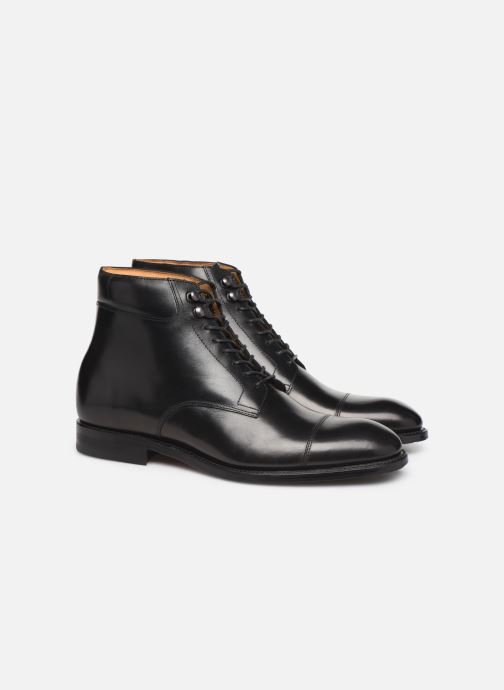 Bottines et boots Marvin&Co Luxe Cardoso - Cousu Goodyear Noir vue 3/4