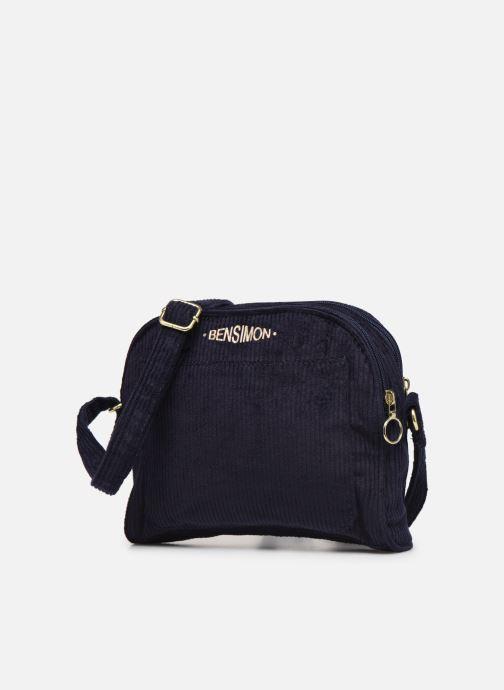 Sacs à main Bensimon CORDUROY ROUND BAG Bleu vue portées chaussures
