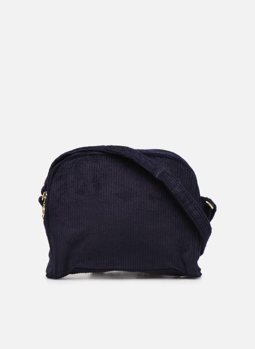 Handbags Bensimon CORDUROY ROUND BAG Blue front view