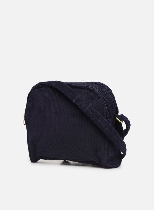 Handbags Bensimon CORDUROY ROUND BAG Blue view from the right