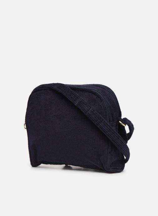 Sacs à main Bensimon CORDUROY ROUND BAG Bleu vue droite