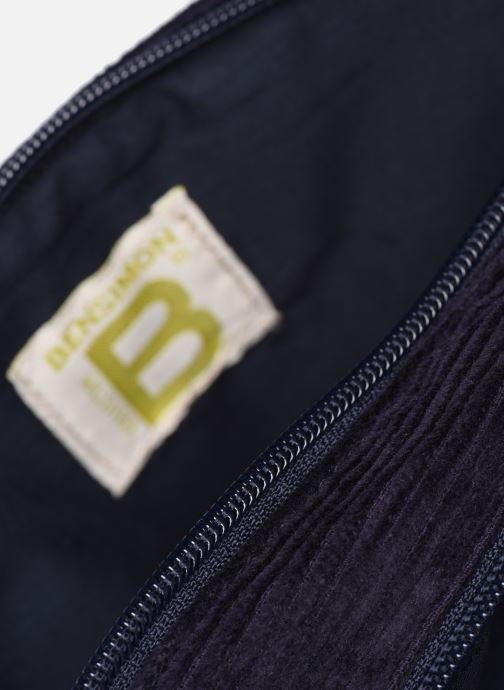 Handbags Bensimon CORDUROY ROUND BAG Blue back view