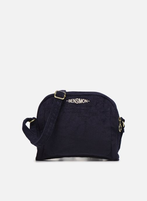 Handtassen Bensimon CORDUROY ROUND BAG Blauw detail