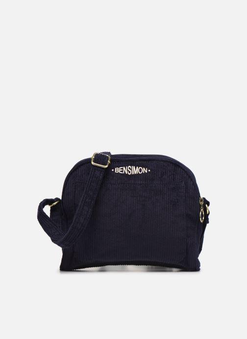 Handbags Bensimon CORDUROY ROUND BAG Blue detailed view/ Pair view