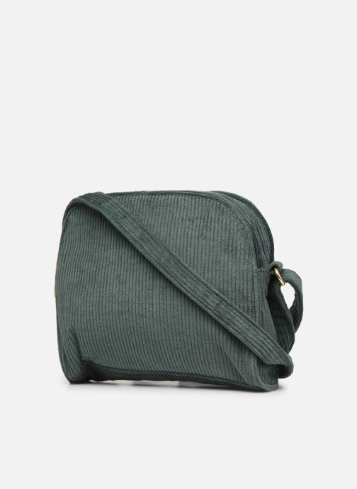 Handbags Bensimon CORDUROY ROUND BAG Green view from the right