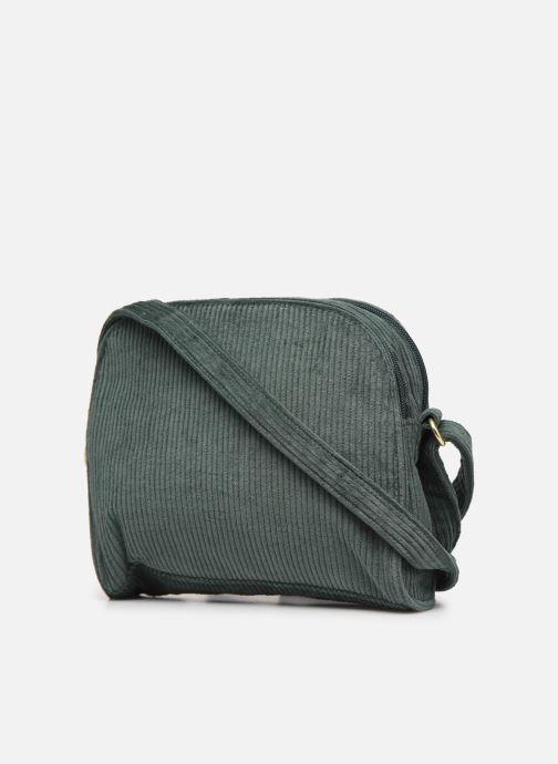 Bolsos de mano Bensimon CORDUROY ROUND BAG Verde vista lateral derecha