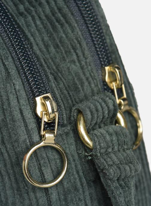 Handbags Bensimon CORDUROY ROUND BAG Green view from the left