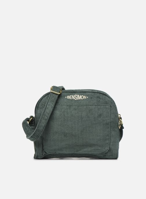 Handbags Bensimon CORDUROY ROUND BAG Green detailed view/ Pair view