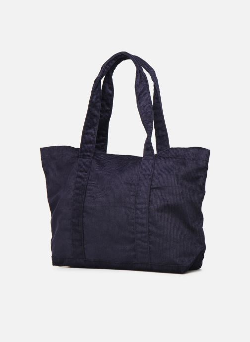 Handbags Bensimon CORDUROY TOTE Blue model view