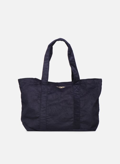 Handbags Bensimon CORDUROY TOTE Blue front view