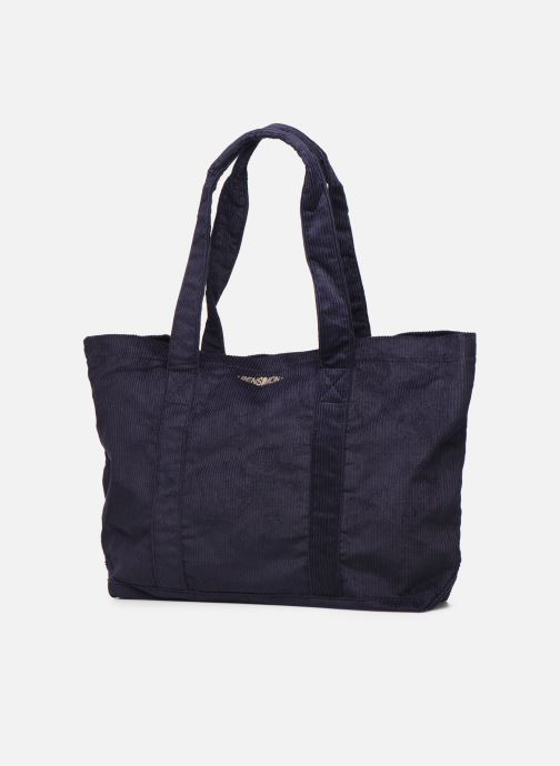 Handbags Bensimon CORDUROY TOTE Blue view from the right