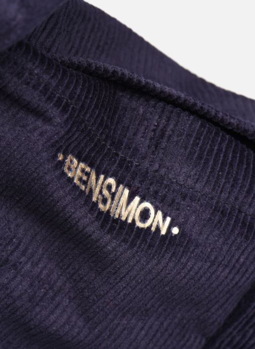 Handbags Bensimon CORDUROY TOTE Blue view from the left